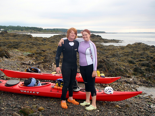 My kids, Bethany and Dan Cox, kayaking the US Eastern Seaboard, Maine to Florida!