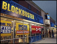 TIME TO SWITCH TO BLOCKBUSTER?
