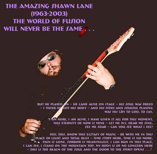 SHAWN LANE 2001