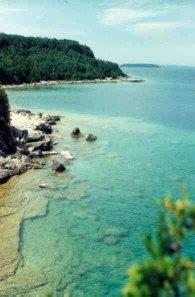 Flowerpot Island vista looking towards Lake Huron 1993 by John W. Patterson